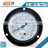 (YF-100BD) 100mm large size panel connection with flange cheap price industrial use refrigeration manometer