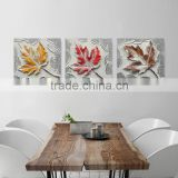 Natural scenery oil painting with clolorful elegant leaves decor resin abstract oil painting