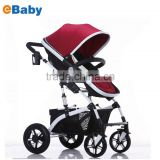 Luxury Newborn Baby Foldable Anti-shock High View Carriage Infant Stroller Pushchair Pram
