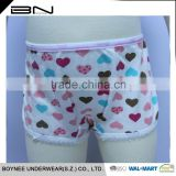 Factory Design Available 3-12 Year-old Softexible OEM Kintted Kid Girl Model Underwear