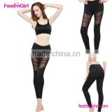 Activewear Sports Black Mesh Leggings for America Market                                                                         Quality Choice