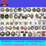 hardware accessory metal bronze antique Alloy round Gem photo base/photo frame for jewelry