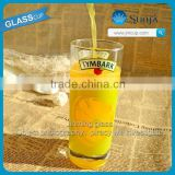 China Glassware Fruit Juice Tumbler Glass Machine pressed Pilsner Glass Wholesale Juice Glass