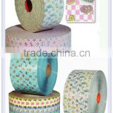 Raw Material For Baby Diaper,frontal tape, side tape, backsheet PE film or breathable cloth-like filmElastic waist