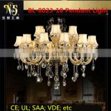 High quality led luxury Classical Italy style crystal acrylic chandelier glass light