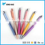 Xinghao 2 in 1 multicolor metal touch crystal ball pen in stock
