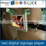 FlintStone 7 inch car advertising video program, taxi digital tv monitor, mini video player used in cab