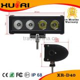 Mini Led light bar 40W/Single row led bar light 40W C ree led working bar lihgt for truck