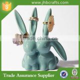 Home Decoration Love Bunnies Ring Holder