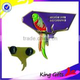 Custom colorful soft enamel bird shape lapel pins
