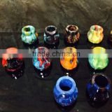 High quality Resin Wide Bore Drip Tip 510 Drip Tip Resin Box Mod Summit Style Top Cap Drip Tips