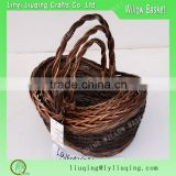 rustic willow baskets boat shaped willow wicker basket                                                                                                         Supplier's Choice