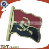 brass material custom enamel flag pin