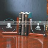 Custom logo wooden base book end, book stand