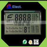 positive character segment factory electrical safe device lcd display, monochrome cheap black TN