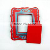 make in chinese guangzhou photo frames wooden/ plain craft photo frames/ magnet photo frame