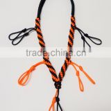 fashion custom paracord duck/goose call lanyard orange and black