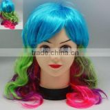 bob trading cheapest price football fan wig/hair black red yellow germany flag football fans afro wig