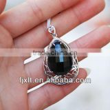 Latest Fashionable Blue Crystal 925 Sterling Silver Sapphire Pendant