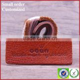 Eco-friendly Waterproof Custom Embossed Real Brown Leather Label Patch US $0.01-0.6 / Piece