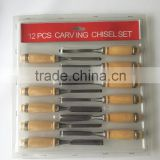 12 HIGHER END WOOD CHISEL SET