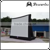 Factory price inflatable rear film screen,outdoor inflatable screen projector for events