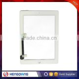 Best Quality Full Assembly Digitizer touch for iPad 3, Home Button and 3M Adhesive Sticker free shipping by DHL for iPad 3