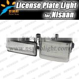 2pcs Bright 3528 Leds License Plate Light Lamp Led Number Plate Light for N issan For Versa 4/5 door 2006