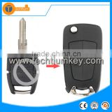 3 button switch modified flip key chave shell blank with high quality for opel vectra mokka vectra b meriva corsa d