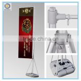 Outdoor flying flag banner stand with water tank base, 5 M flag pole display stand.