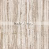 FULL POLISHED GLAZED MARBLE TILES FOR ITALIAN ROYAL WOODEN LINE GREY DESIGN FROM FOSHAN FACTORY
