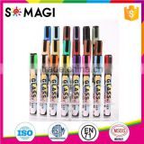 Reversible Bullet And Chisel Tip and Dry-Erase & Wet-Erase chalk marker with fluorescent Colors