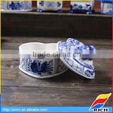Best selling ceramic blue and white jewelry storage box