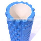 high density EVA 2 in 1 logo printing hollow Yoga exercise Pilates Yoga grid vibration Foam Roller for muscle massage