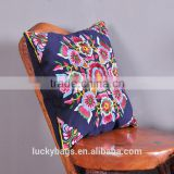 wholesale custom pillowcase/cushions ethnic embroidery decorative throw pillow cover with invisible zipper