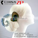 New arrival feather for bridal fascinator peacock feather hair accessories as wedding hair clip
