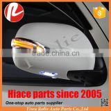 Refit auto spare body parts LED side mirror rear view Toyota hiace 2005-2018 white chrome black cover custom manufacturer