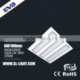36W 3200lm 600*600 LED Grille light ,LED light Grille lighting
