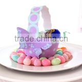 2013 New Favor Box Pastel Colours Paper Lilac and Aqua Polka Dot Basket For Little Girls Party Favors