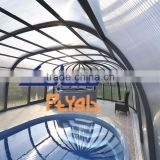 building materials prices twin wall polycarbonate panel roofing for adult plastic swimming pool