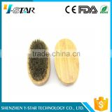 High quality bamboo boar bristle beard brush wholesale