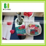 OEM product custom printing design paper card hangtag paper for bottles