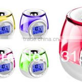 7 Color Changing Digital LCD Alarm Clock with Aroma Heater & FM Radio