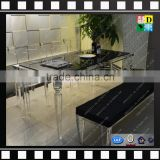 Cheap square acrylic dining table set transparent table setting chinese from china manufacturer
