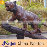 Outdoor large tiger sculpture in the tree NTBA-C010Y