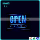 Custom single side acrylic Led open sign light for bar,Led display