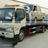 good quality Euro4 136HP 4tons JAC flat bed wrecker truck