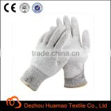 pu coated HPPE cut resistant gloves Level 5 Industrial Safety Work Gloves with CE in safety gloves