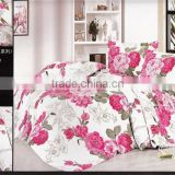 100%polyester disperse printed embroidery flower heart diamond velvet luxury bedding set