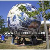 Fireproof Large Earth Balloons Globe for Weather service , Inflatable Ground Balloon